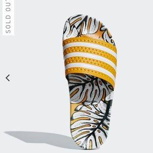 Adidas Adilette FARM craft gold/yellow palm 7